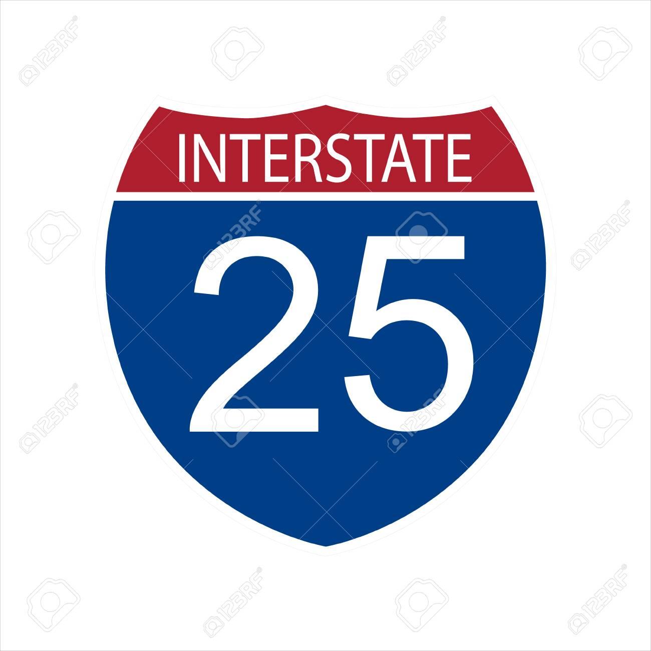 Raster Illustration Interstate...