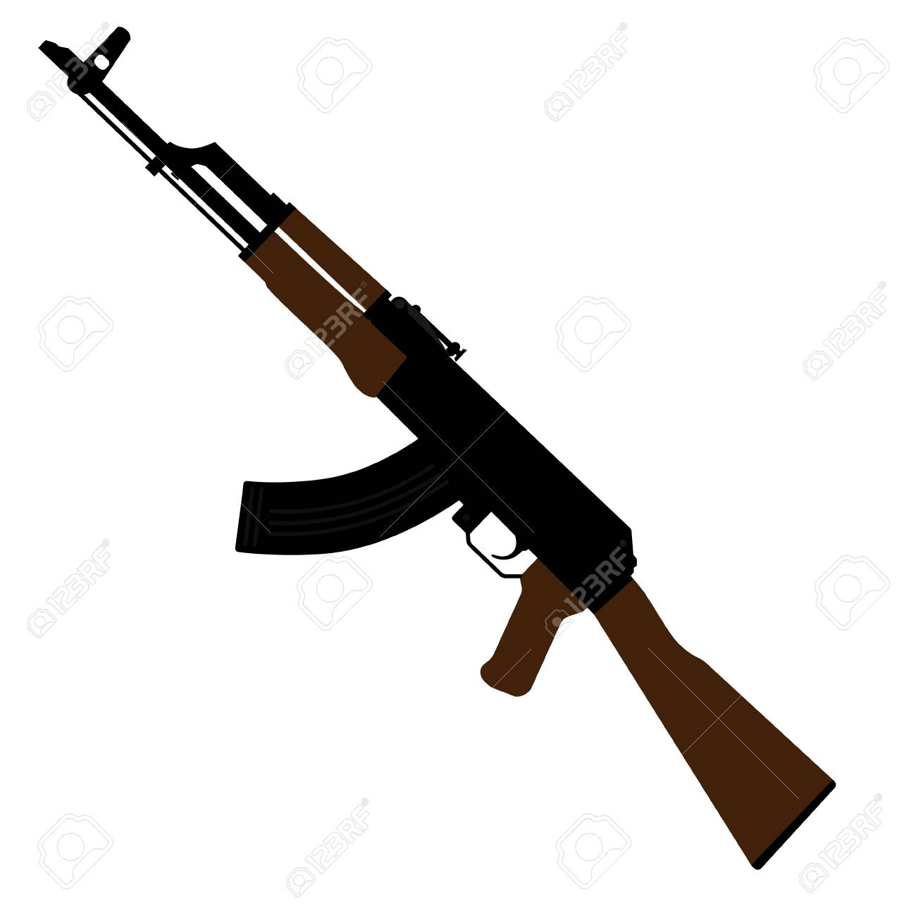 vector illustration ak47 icon kalashnikov machine gun royalty free rh 123rf com ak47 vector free ak 47 png vector