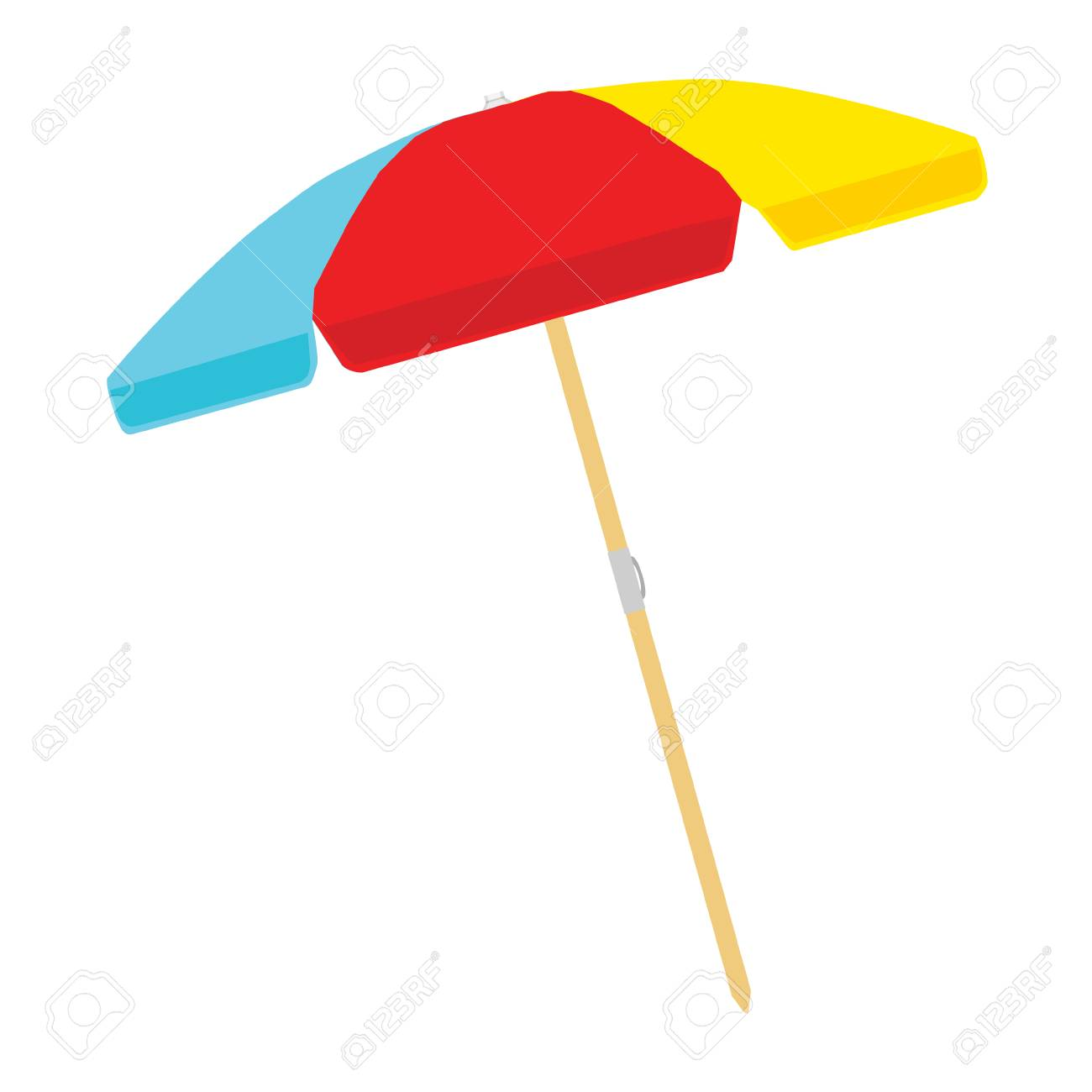 Beach umbrella color isolated on white background. Vector illustration - 113202625
