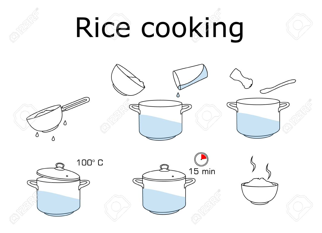 How to cook rice with few ingredients easy recipe. - 133676487