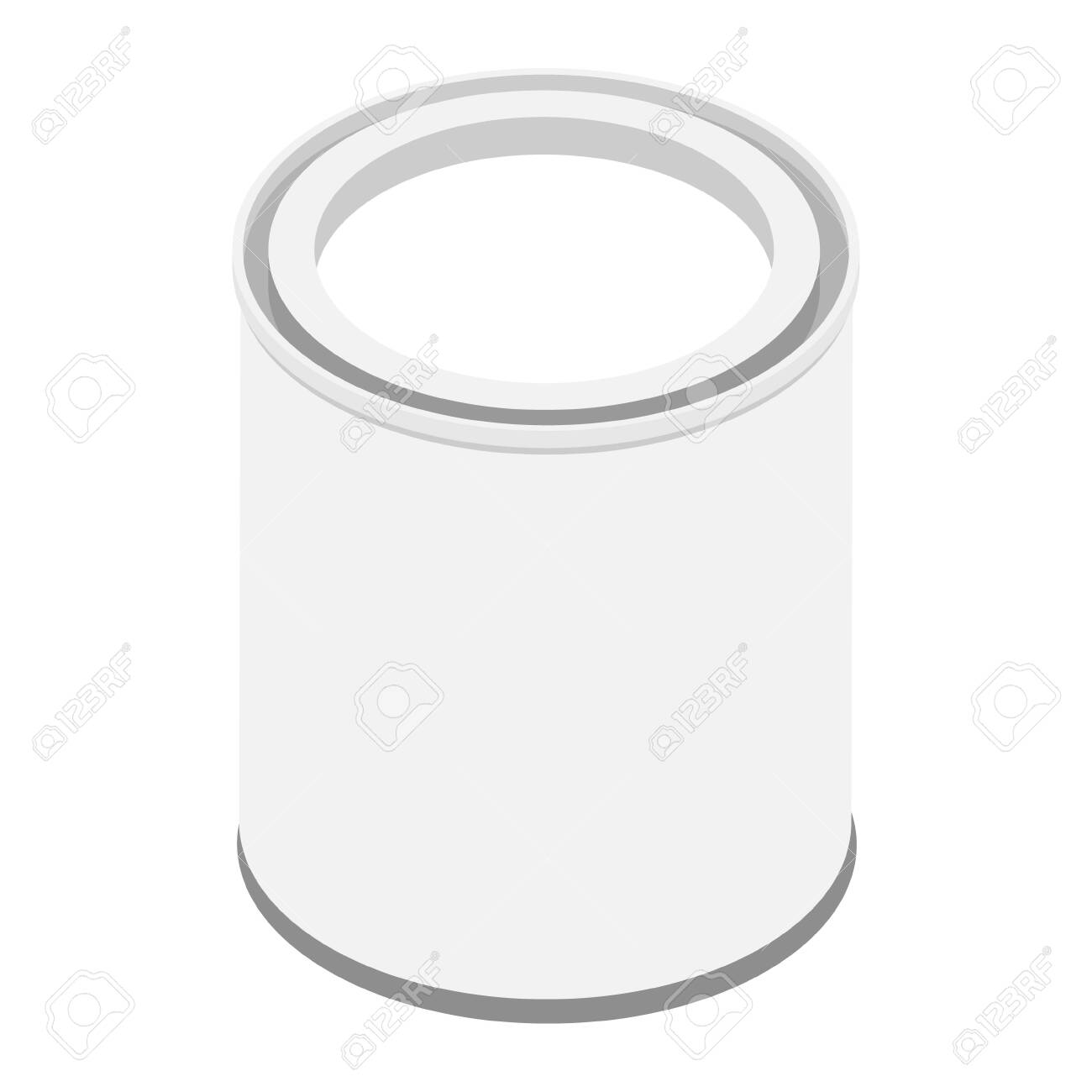 Paint can isolated on white background raster isometric view - 152791861