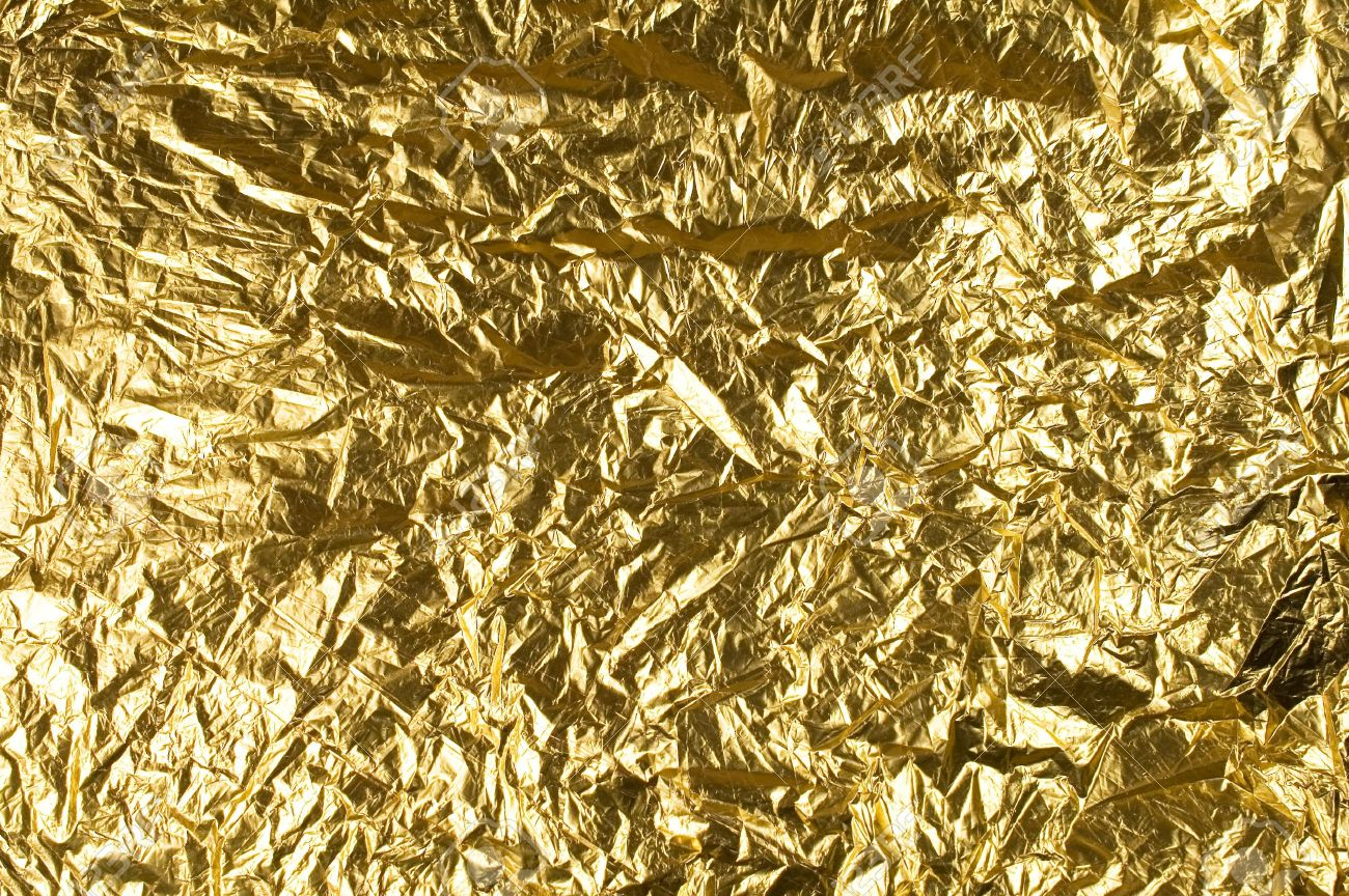background with a gold foil for the design Stock Photo - 13787747