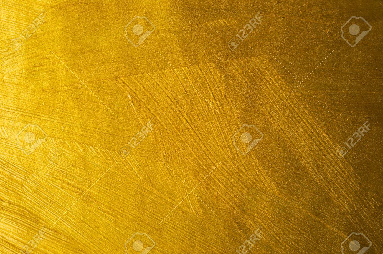 Golden Paint Brush Stroke Texture Background Stock Photo   54665563