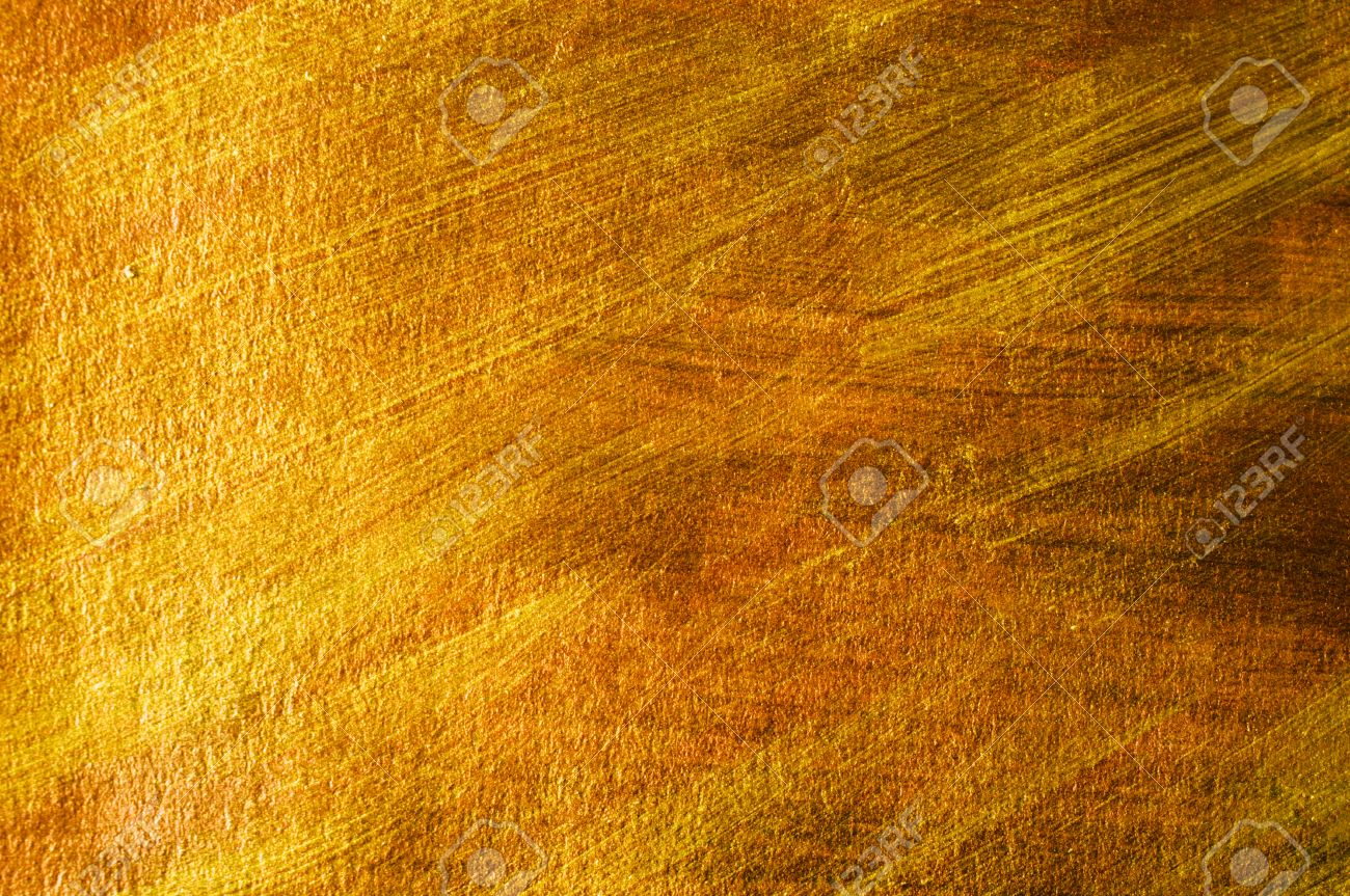 Delicieux Golden And Bronze Paint Brush Stroke Texture Background Stock Photo    54665566
