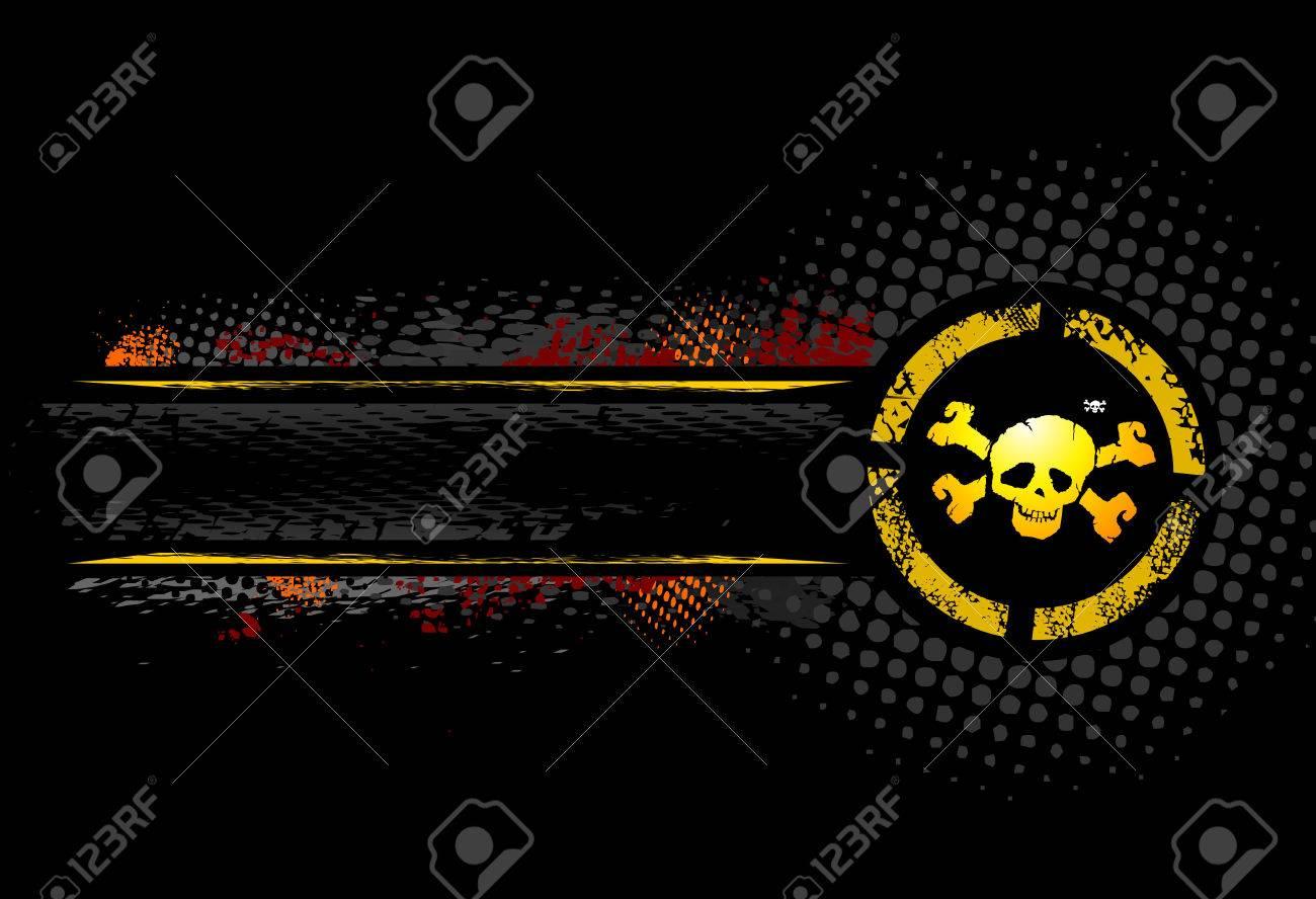 Black Skull Banner Stock Vector - 3519046