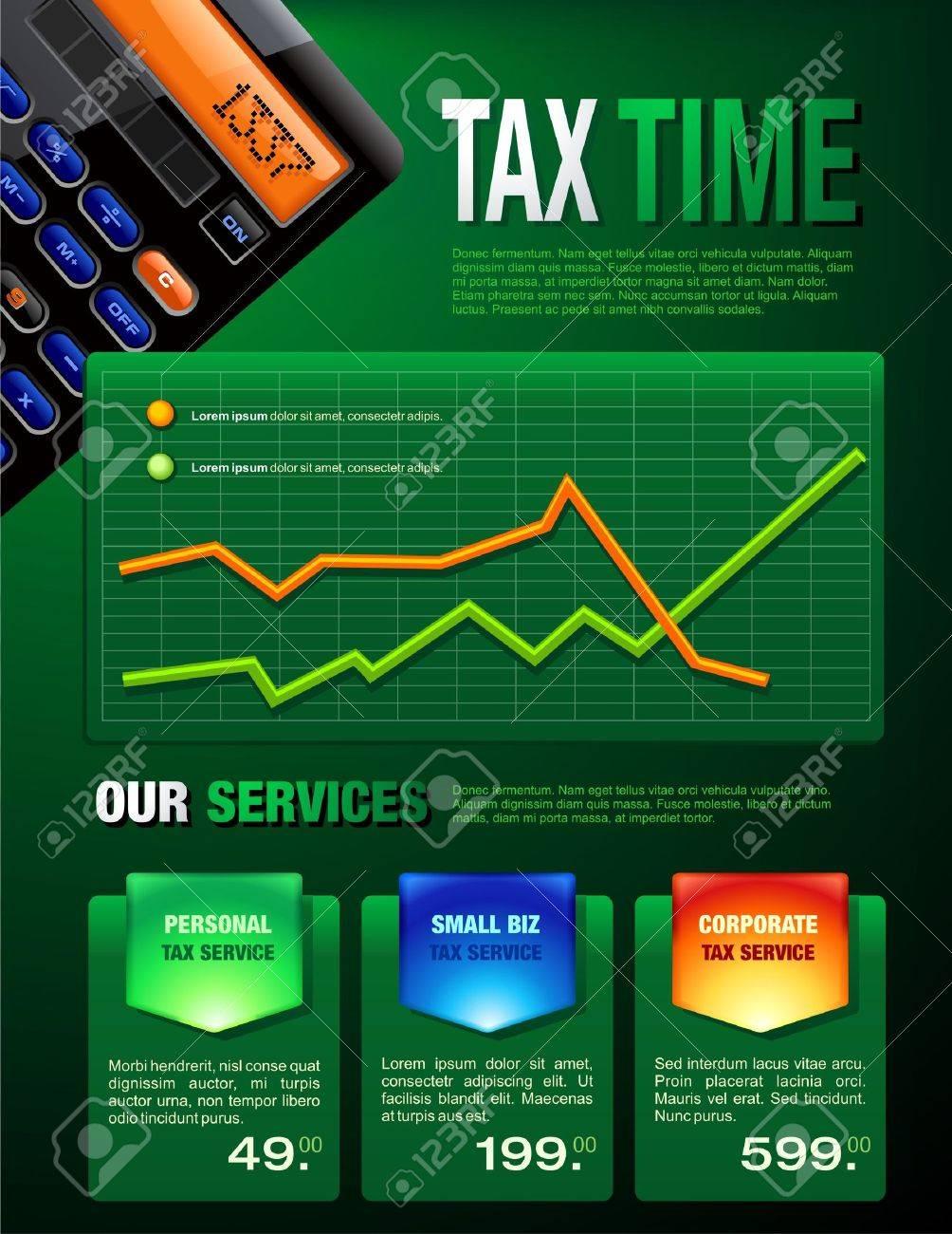 Tax Services Brochure Stock Vector - 4161053