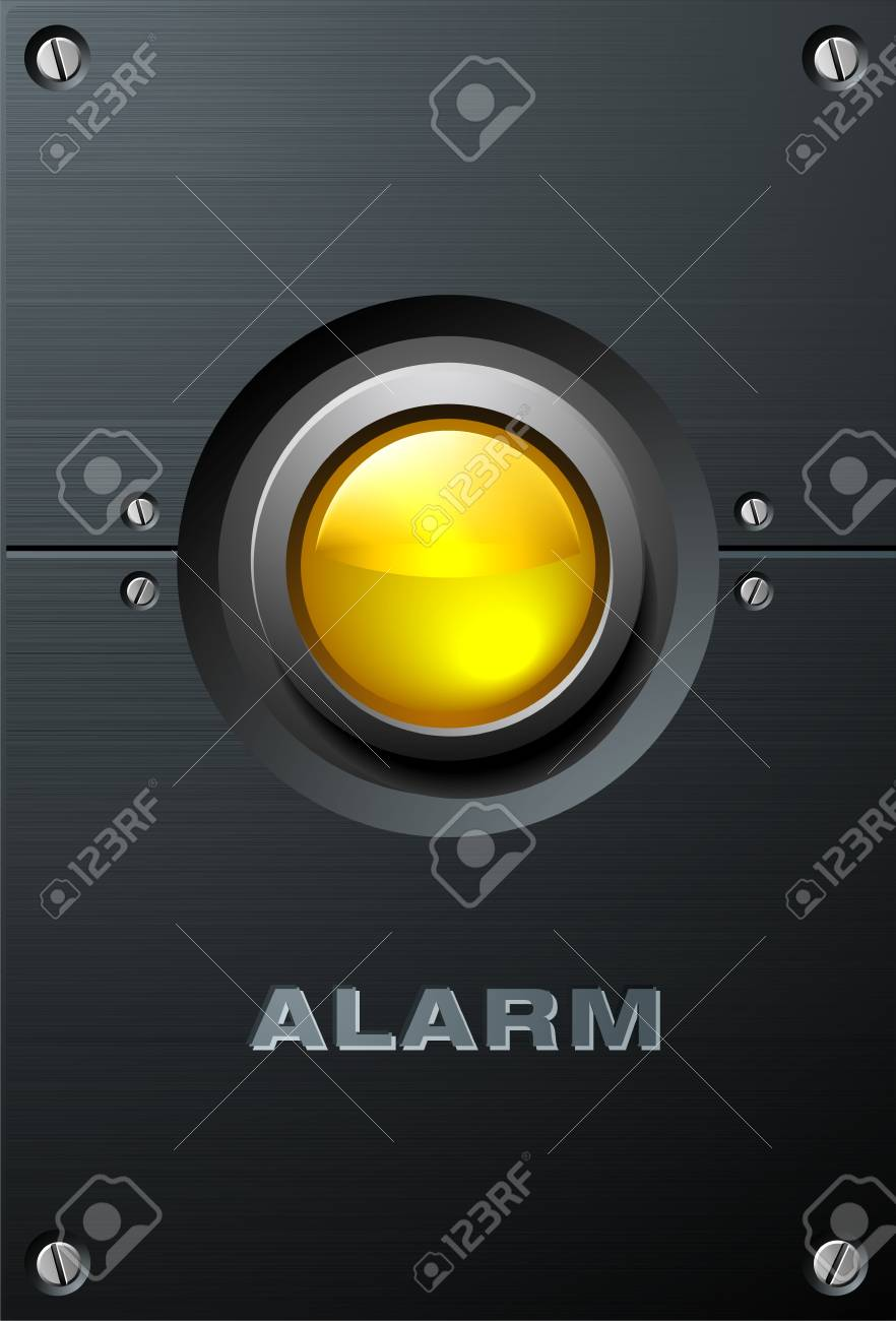 Big Yellow Button Stock Vector - 4161055