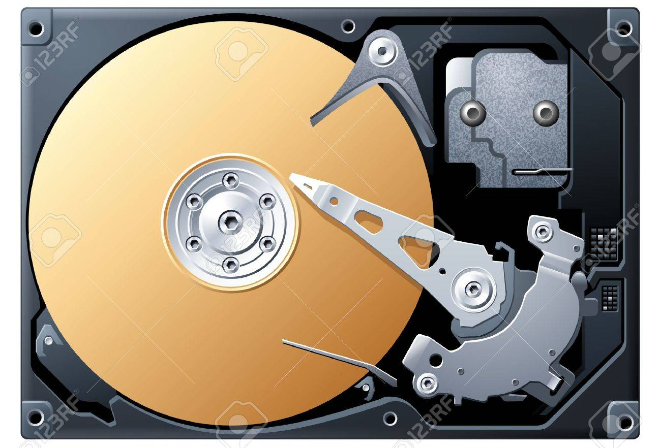 Hard Disk Stock Vector - 4250183