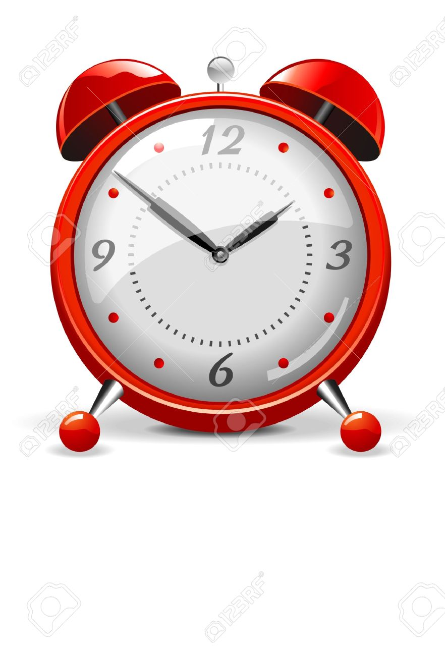 Red alarm clock Stock Vector - 4802330