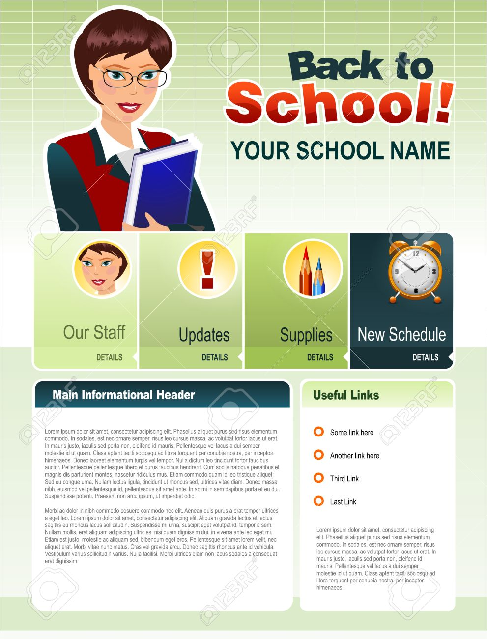Back To School Royalty Free Cliparts, Vectors, And Stock ...