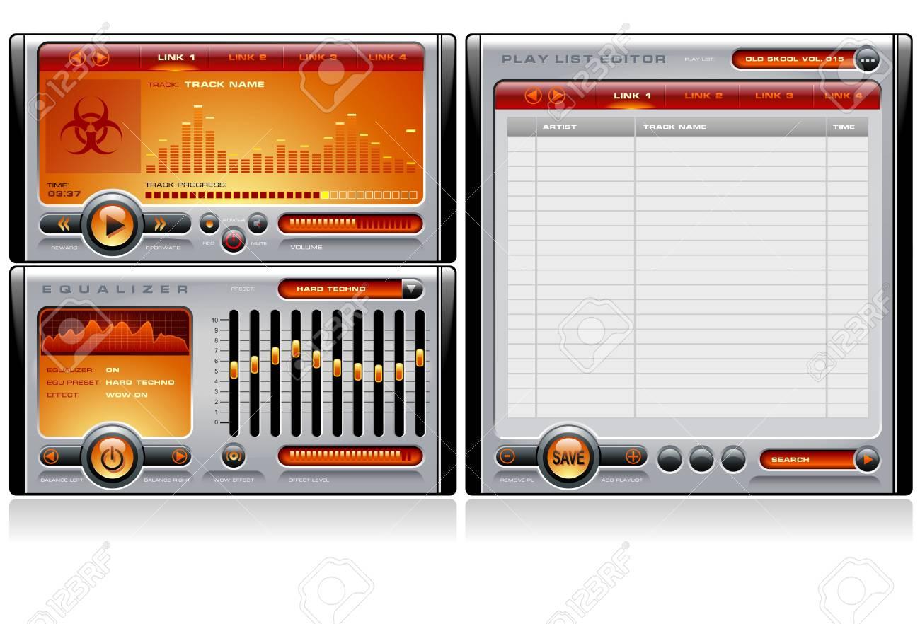 Media Player Orange Stock Vector - 5822274