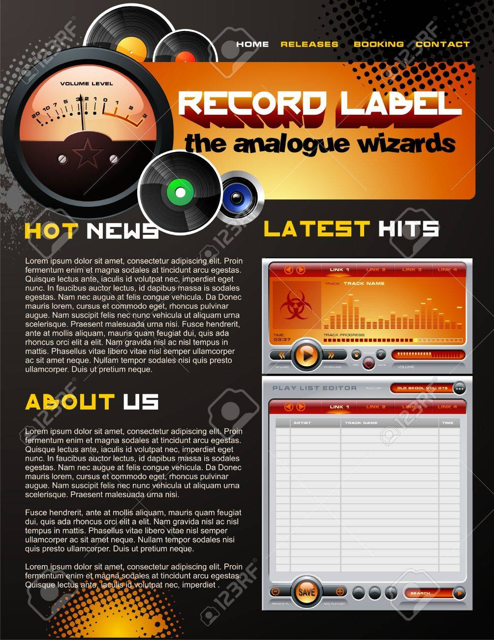 Record Label Brochure Royalty Free Cliparts Vectors And – Studio Brochure