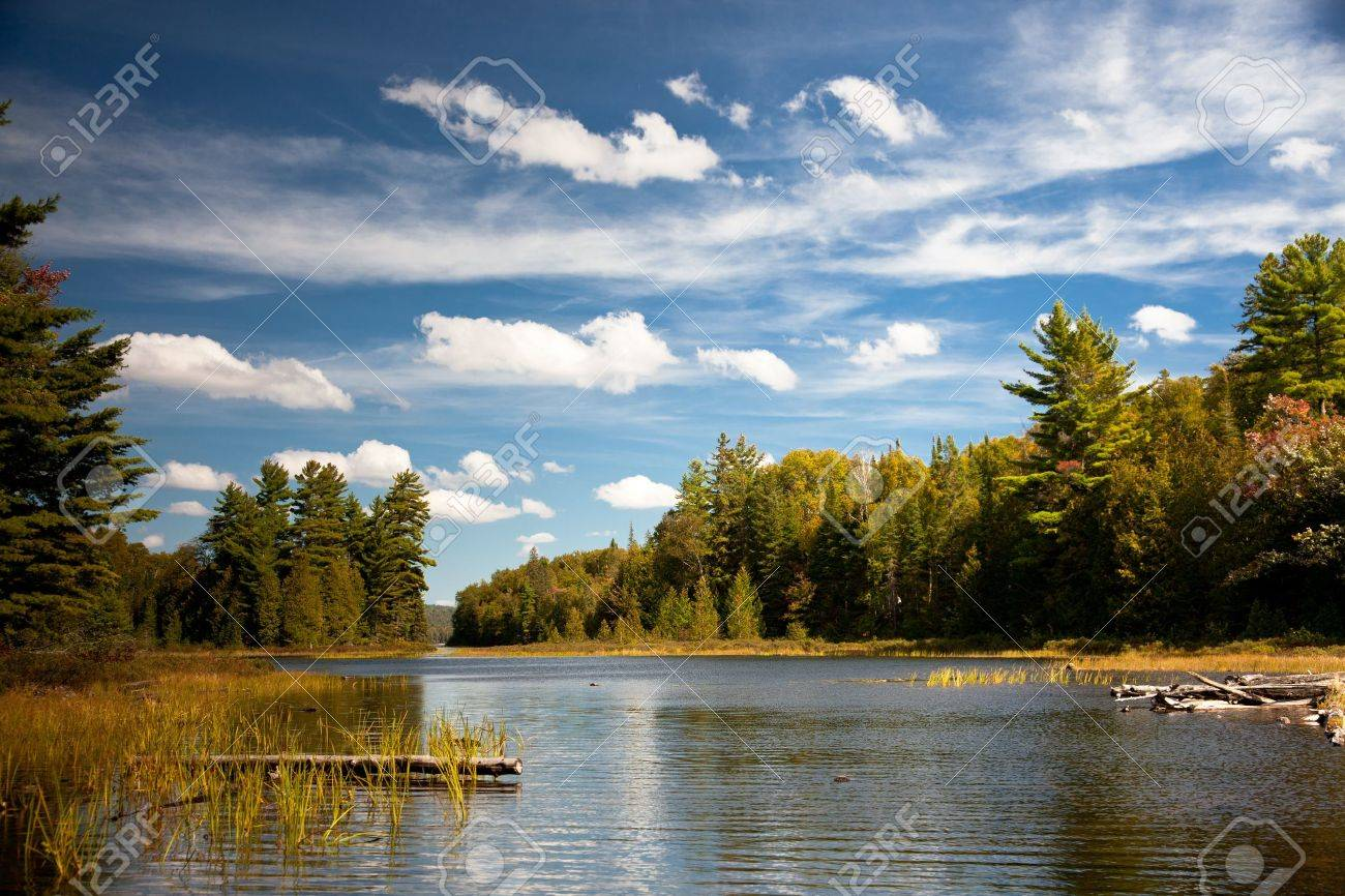 Carpenter Lake clear water vista Stock Photo - 10758694