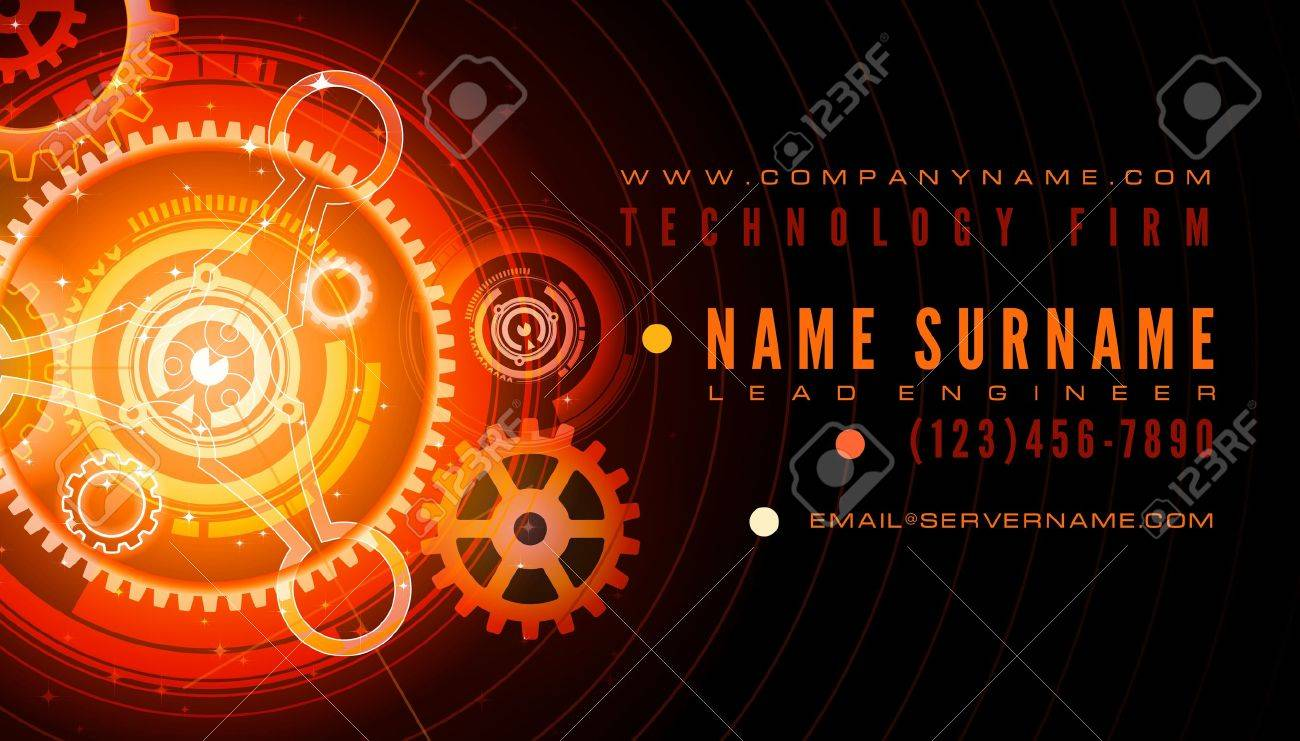 Technology engineer business card template royalty free cliparts technology engineer business card template stock vector 15644511 reheart Image collections