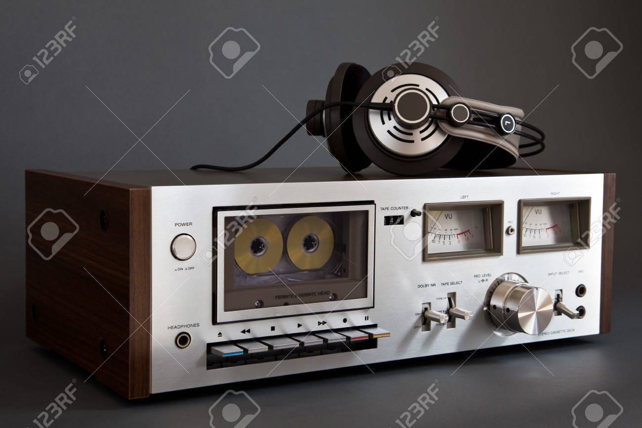 36f53698bcb1 Stereo Cassette Tape Deck Analog Vintage Stock Photo, Picture And ...