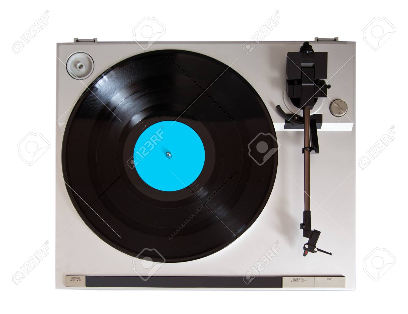 Analog Stereo Turntable Vinyl Record Player Stock Photo - 16664141