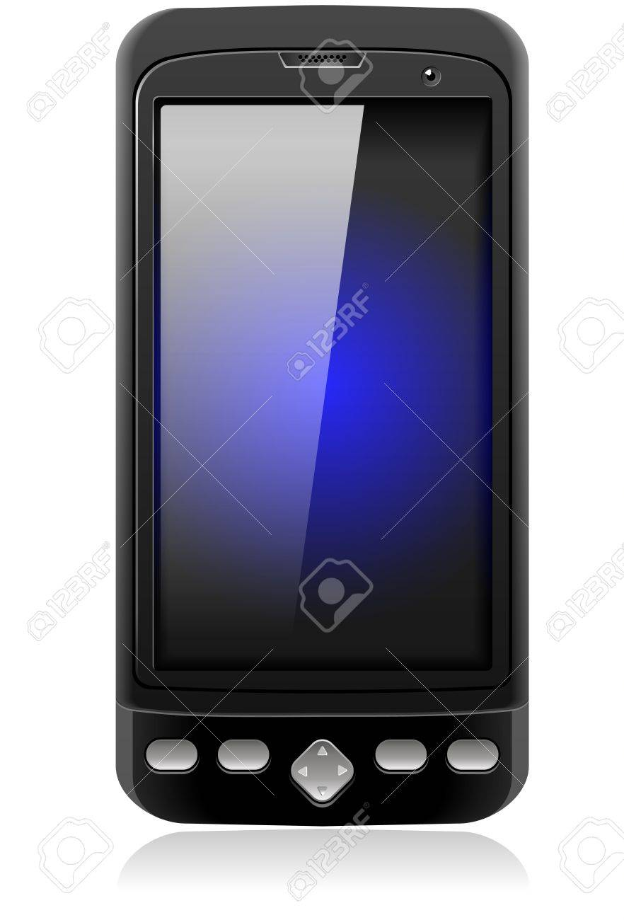 Mobile Cell Smart Phone Realistic Stock Photo - 17584095