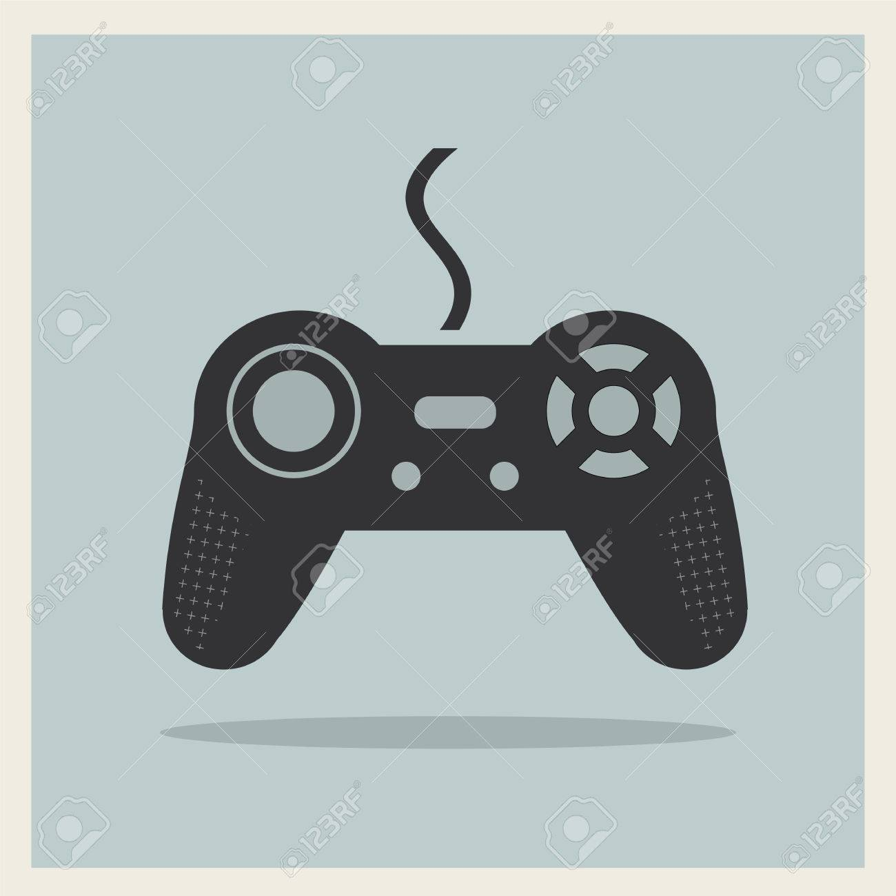 Computer Video Game Controller Joystick on Retro Background Stock Vector - 26844349
