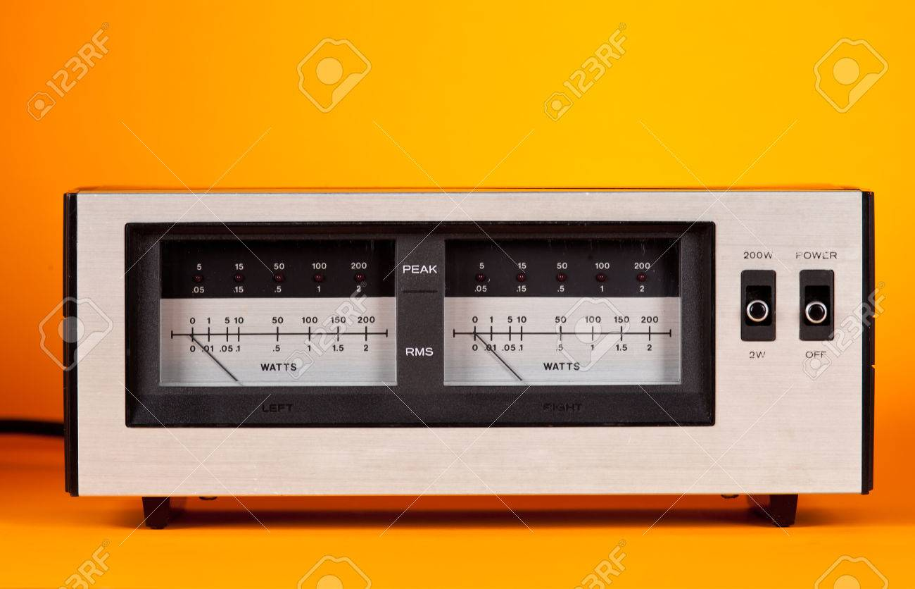 Analog Peak RMS Audio Power VU Meter with needle and LED frontal