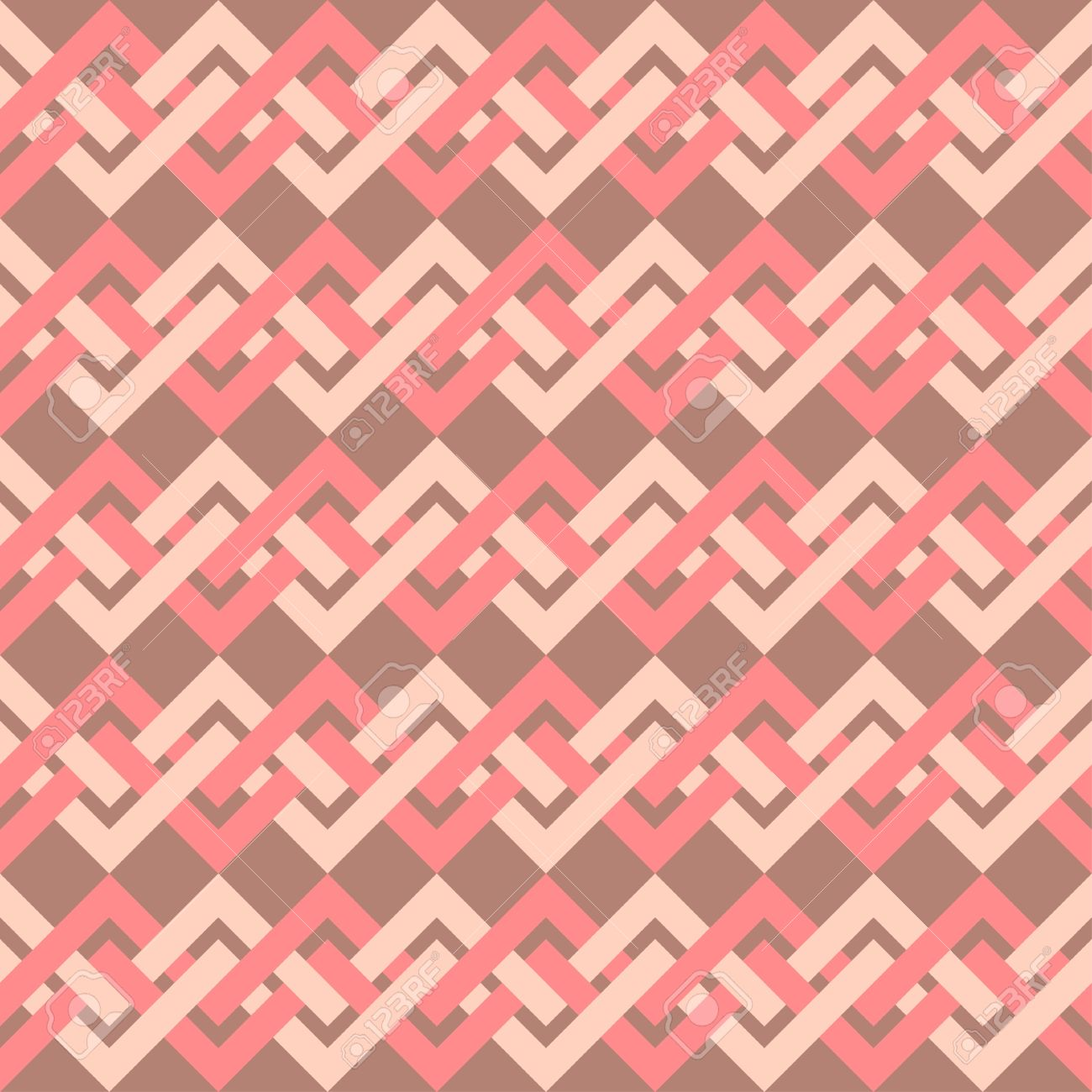 Scrapbook paper as wallpaper - Seamless Pattern Of Interlacing Lines In Retro Style Can Be Used To Fabric Design Wallpaper