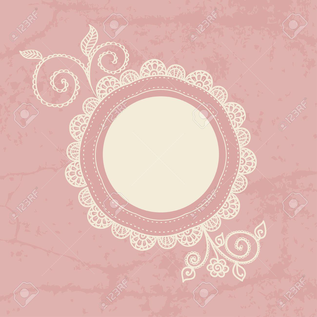 Decoration For Project Hand Drawn Lace Frame Can Be Used For Decoration Of Photos
