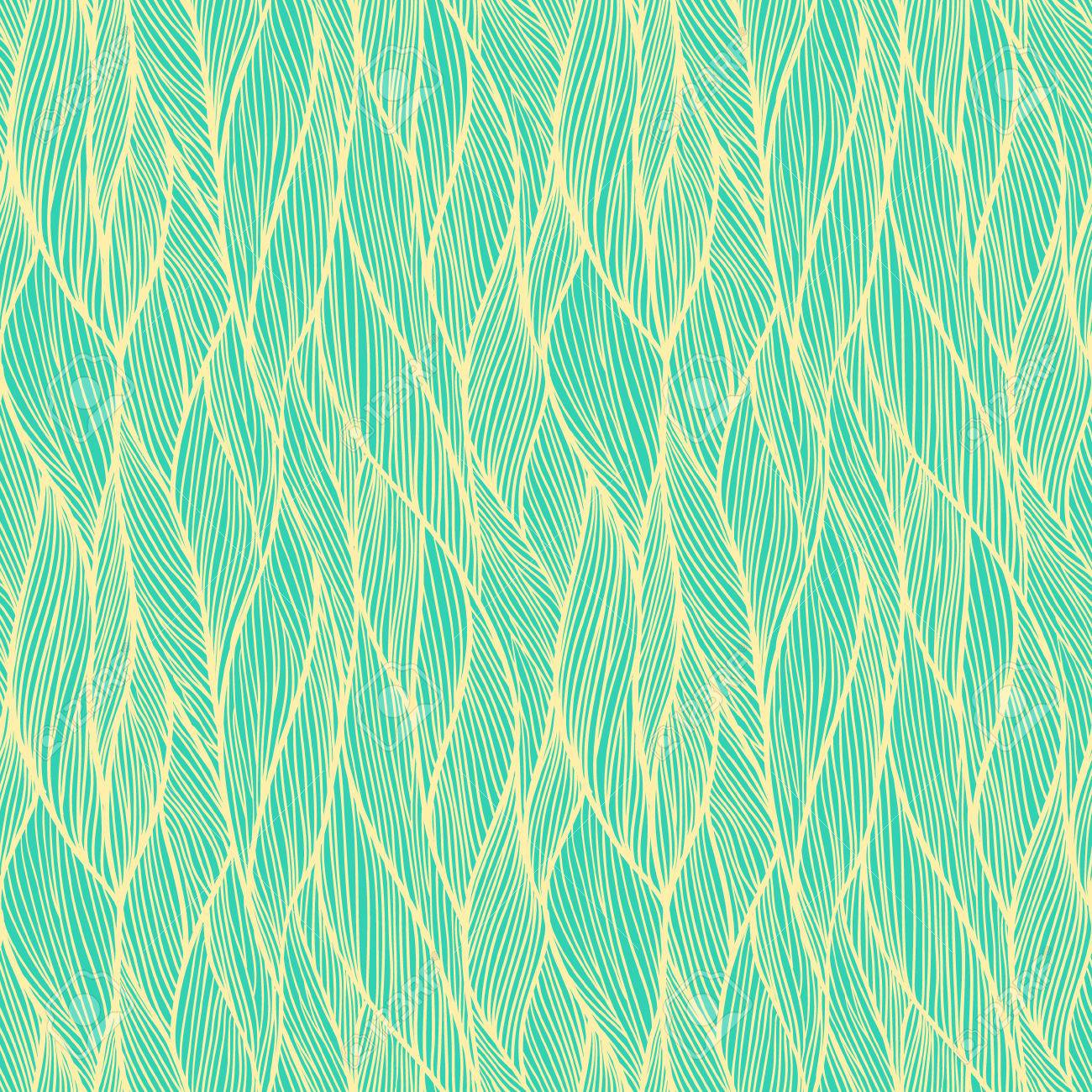 seamless pattern hand drawn wavy background can be used to fabric design wallpaper - Decorative Paper