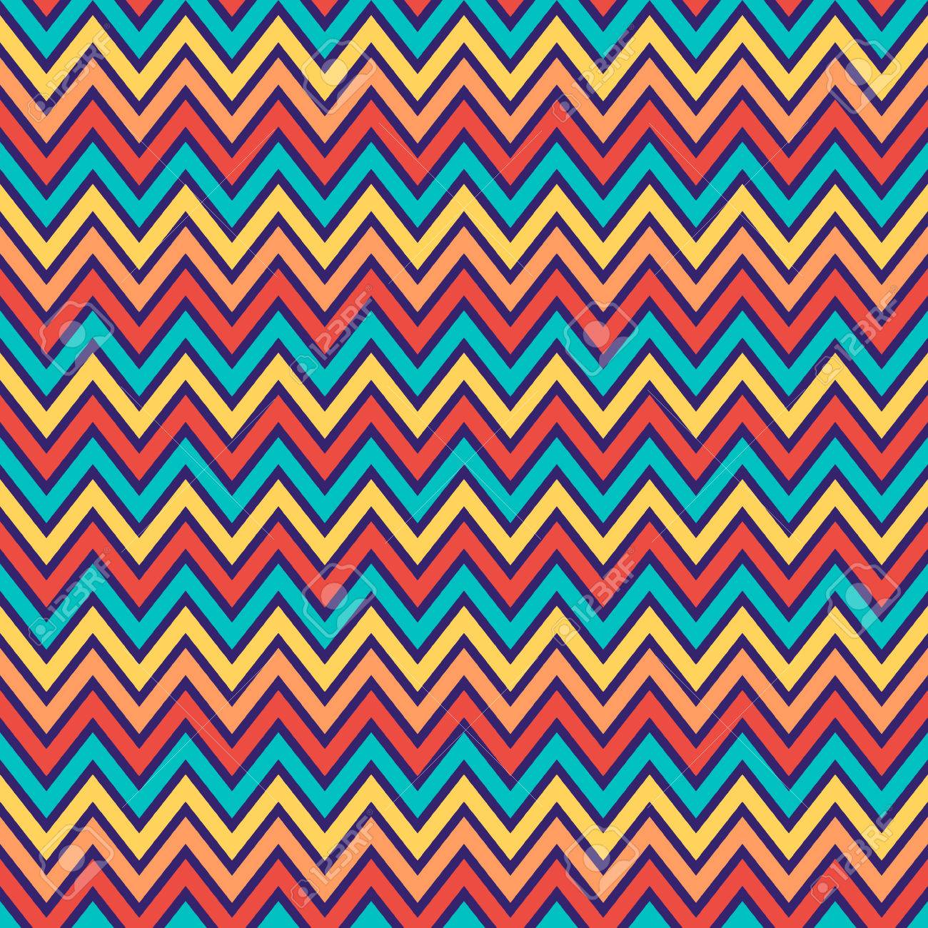 Scrapbook paper as wallpaper - Seamless Chevron Pattern In Retro Style Soft Colors Geometric Background Can Be Used
