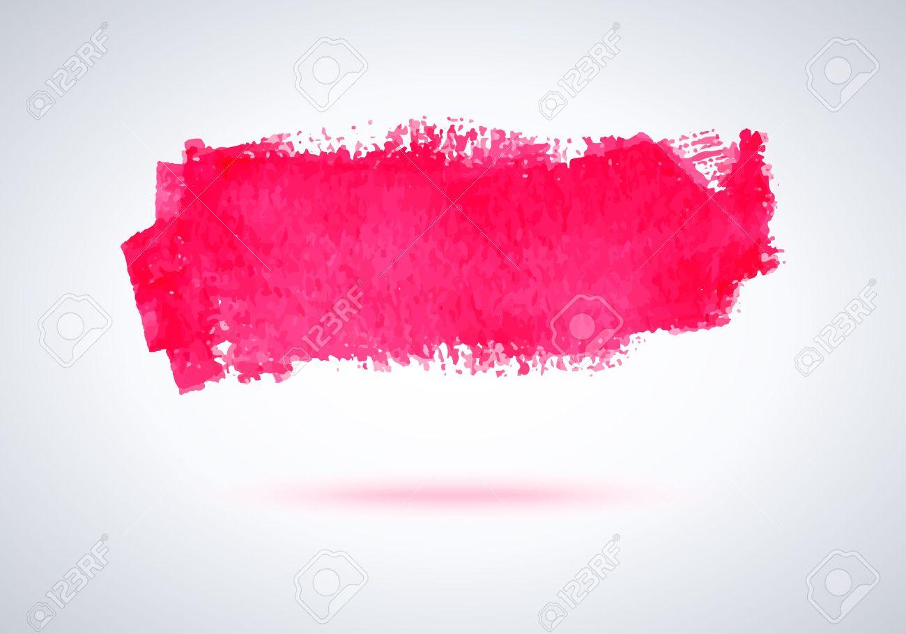 Grunge Pink Paint Brush Stroke