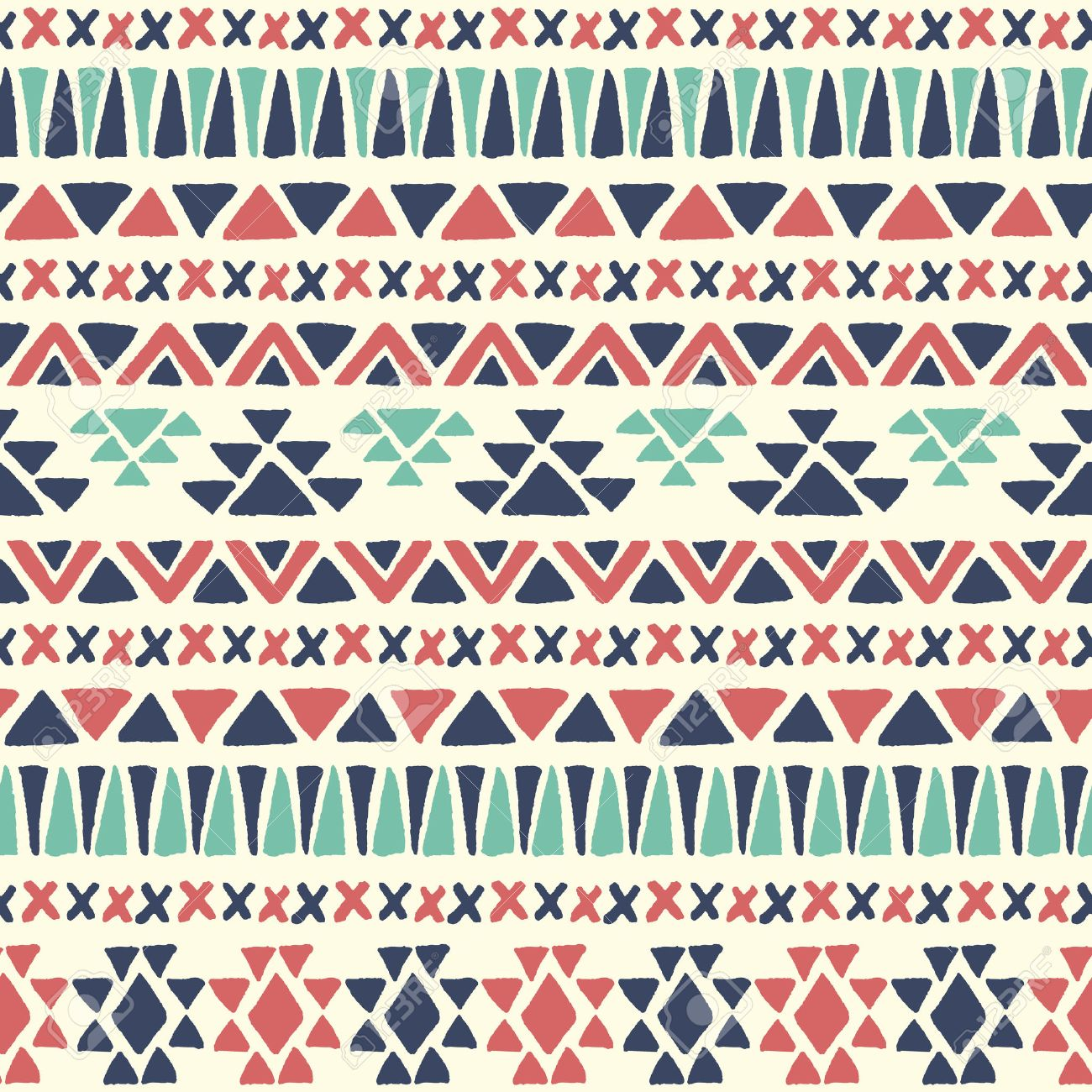 Background geometric mexican patterns seamless vector zigzag maya - Ethnic Seamless Pattern Aztec Geometric Background Hand Drawn Navajo Fabric Modern Abstract Wallpaper