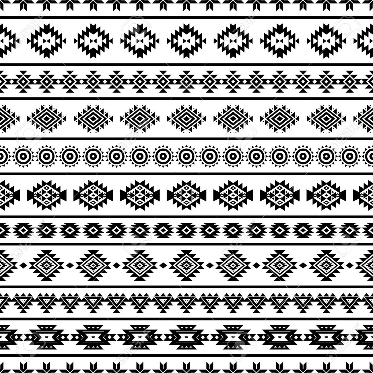 aztec seamless pattern, vector. native american motifs. tribal.. royalty  free cliparts, vectors, and stock illustration. image 122124914.  123rf