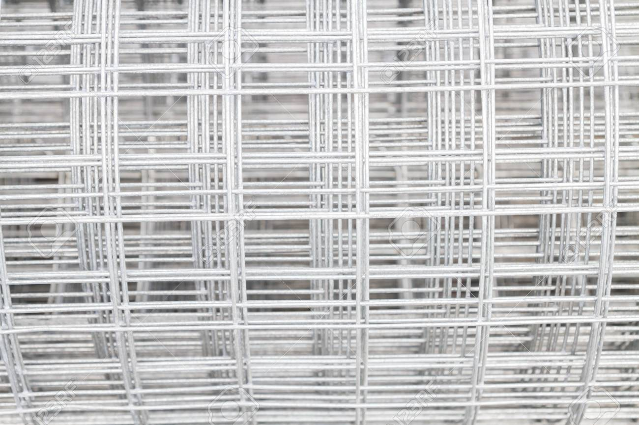 Welded Wire Mesh Galvanized On The Basis Of The Building Stock Photo ...
