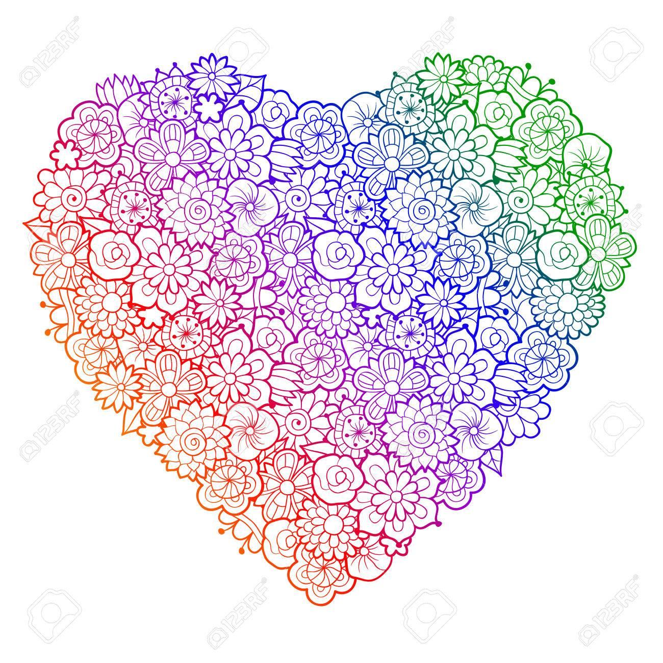 30+Malvorlagen Herzen Blumen