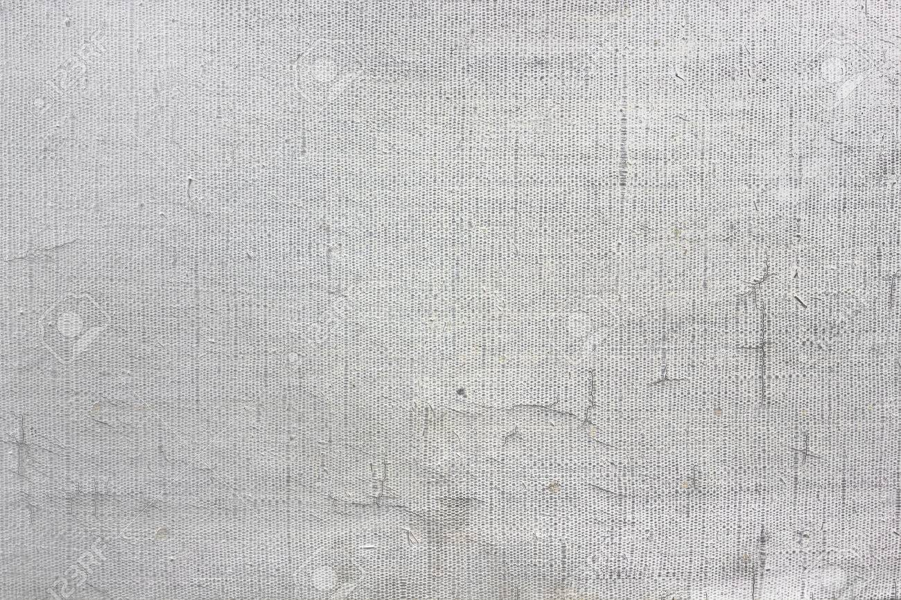 Old Empty Canvas Primed White Oil Paint Background Texture Macro