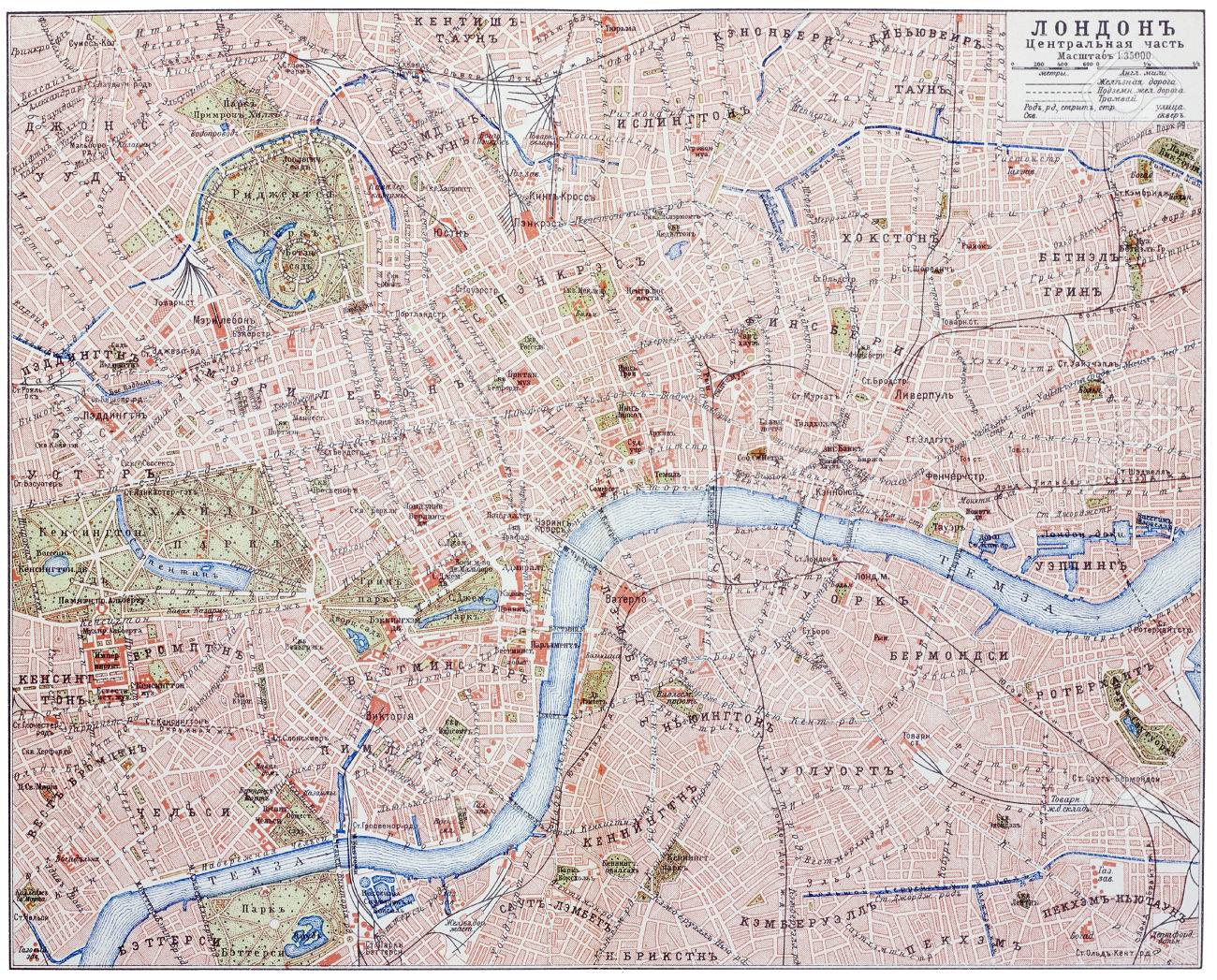 London Map Central.Stock Illustration