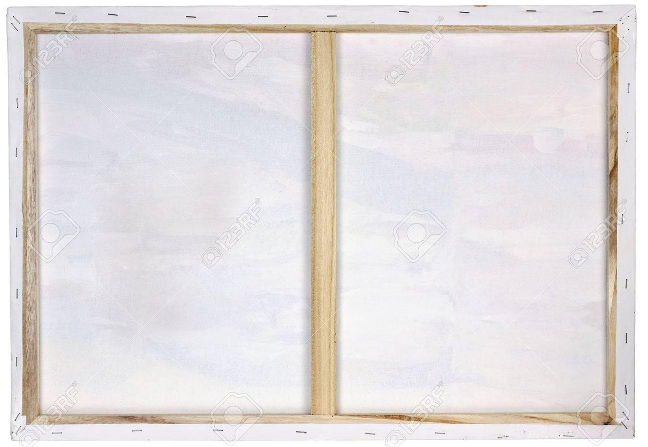 Wooden Art Frame For Oil White Canvas Made Of Pine Planks. Back ...