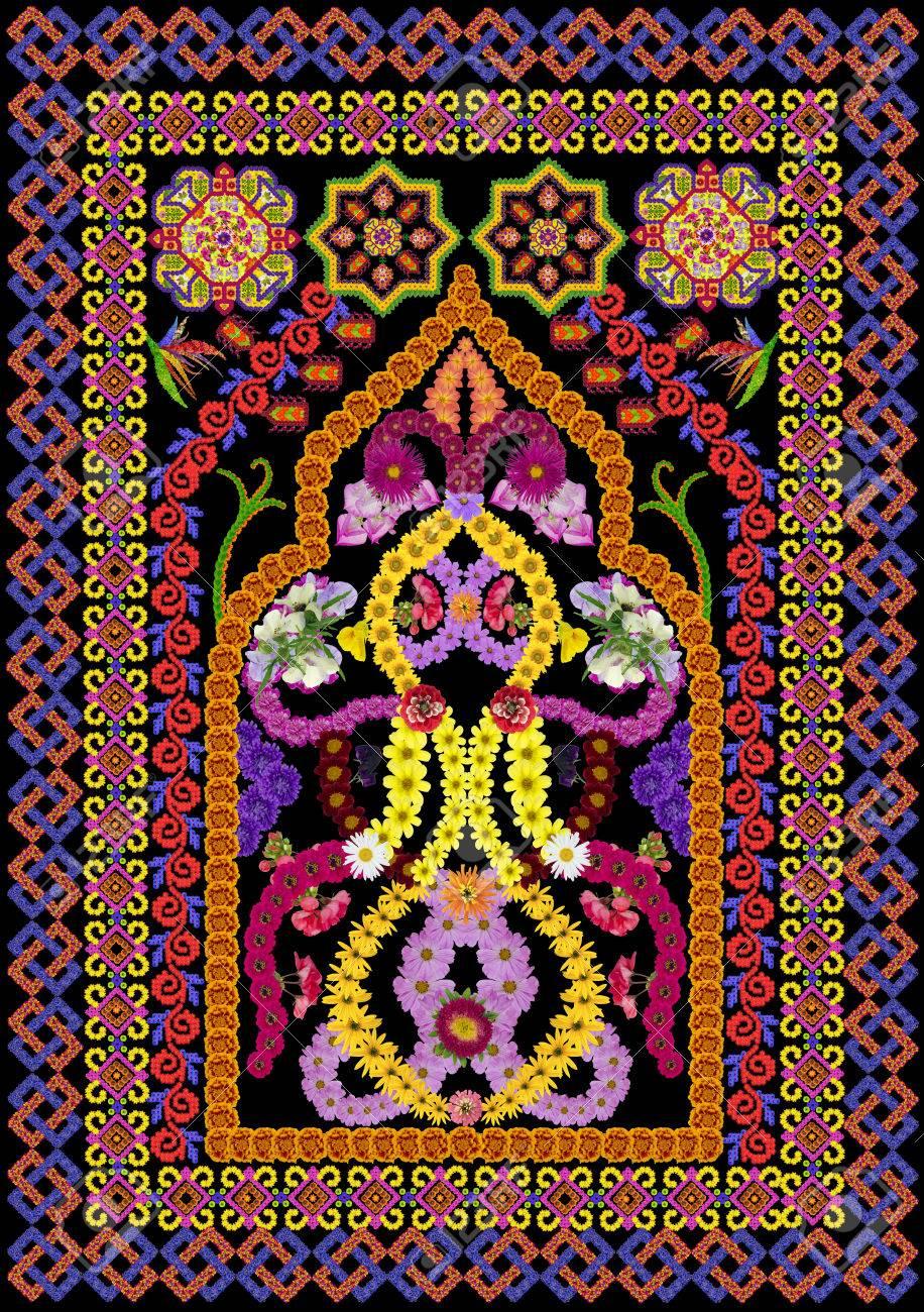 Tapis Pour Une Priere Dans Le Style Islamique Perse Abstract