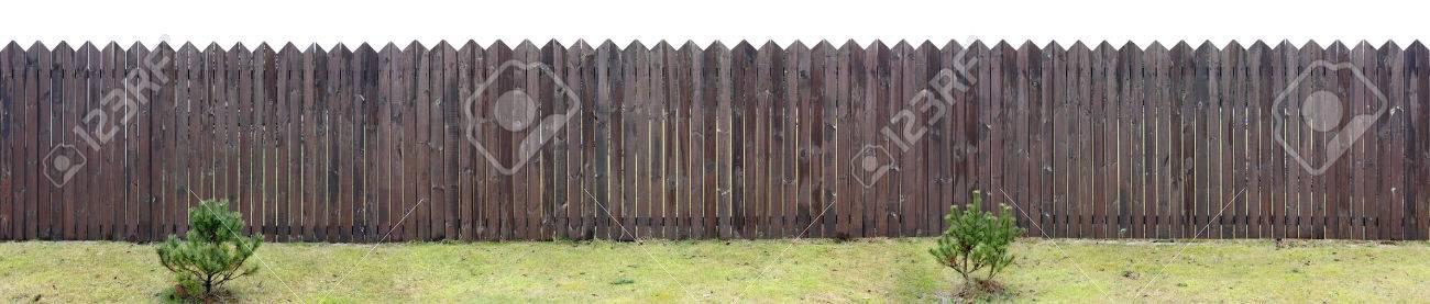 Der Alte Sehr Langen Braunen Zaun Aus Dunnen Holzbrettern Hinter