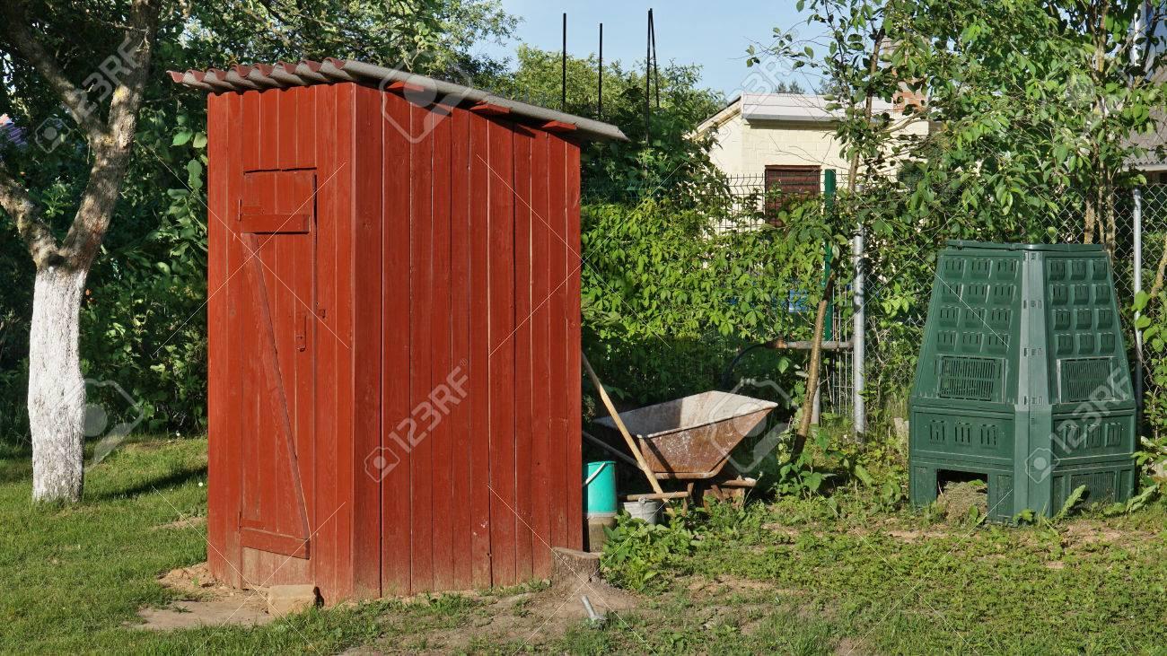 Der Garten Toilette Im Rustikalen Stil Aus Kiefer Braun Platten