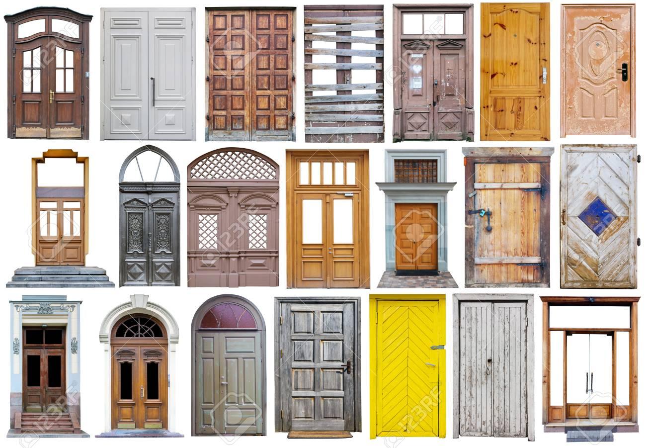 Moderne Hölzerne Straße Türen In Vintage Retro-Stil Großen Satz ...
