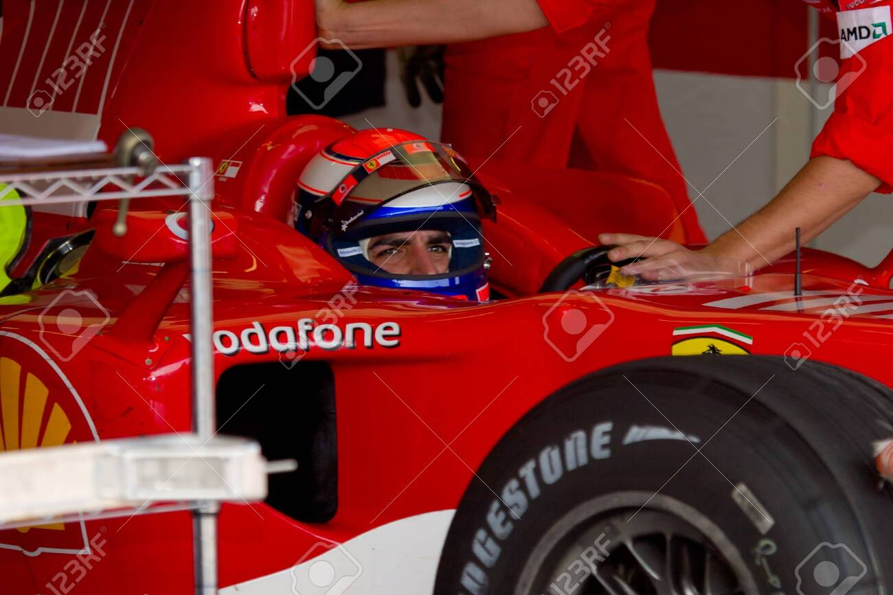 JEREZ DE LA FRONTERA, SPAIN -  OCT 10: Marc Gene of Scuderia Ferrari F1 on October 10 , 2006 on training session in Jerez de la Frontera , Spain Stock Photo - 9350590