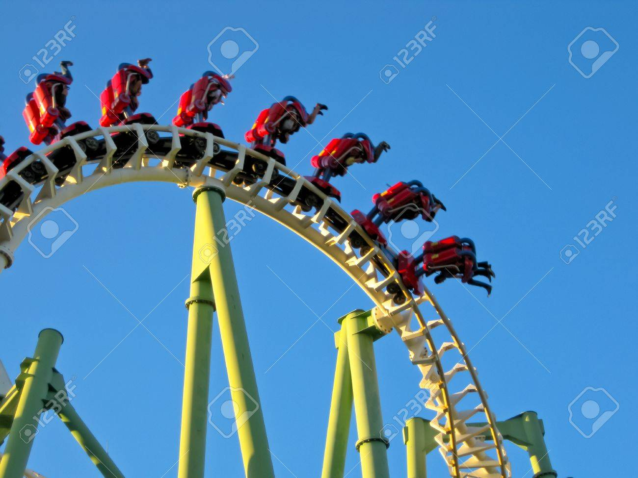 A Roller Coaster in Amusement Park Stock Photo - 12818330