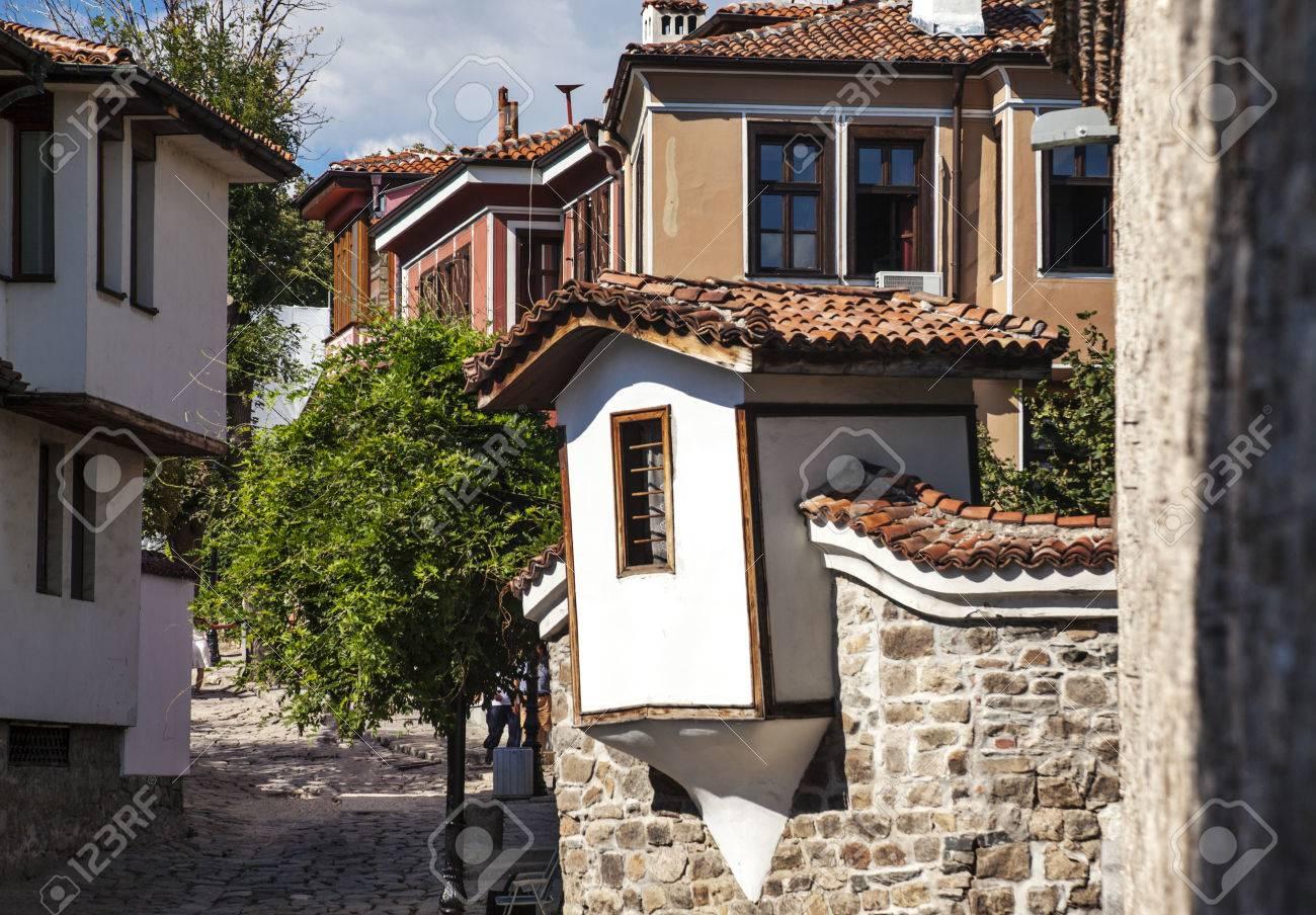Ansicht Der Häuser In Der Altstadt Von Plovdiv, Bulgarien, Europa ...