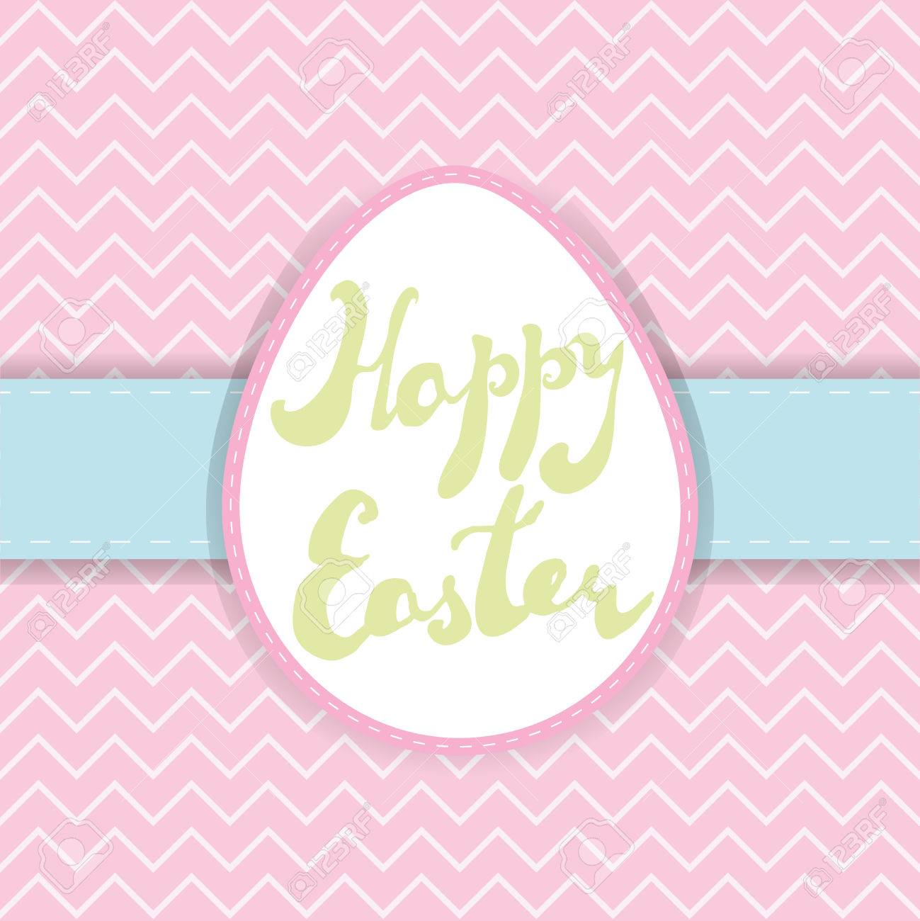 photograph regarding Happy Easter Printable identify Printable Easter greeting card. Handwritten words and phrases