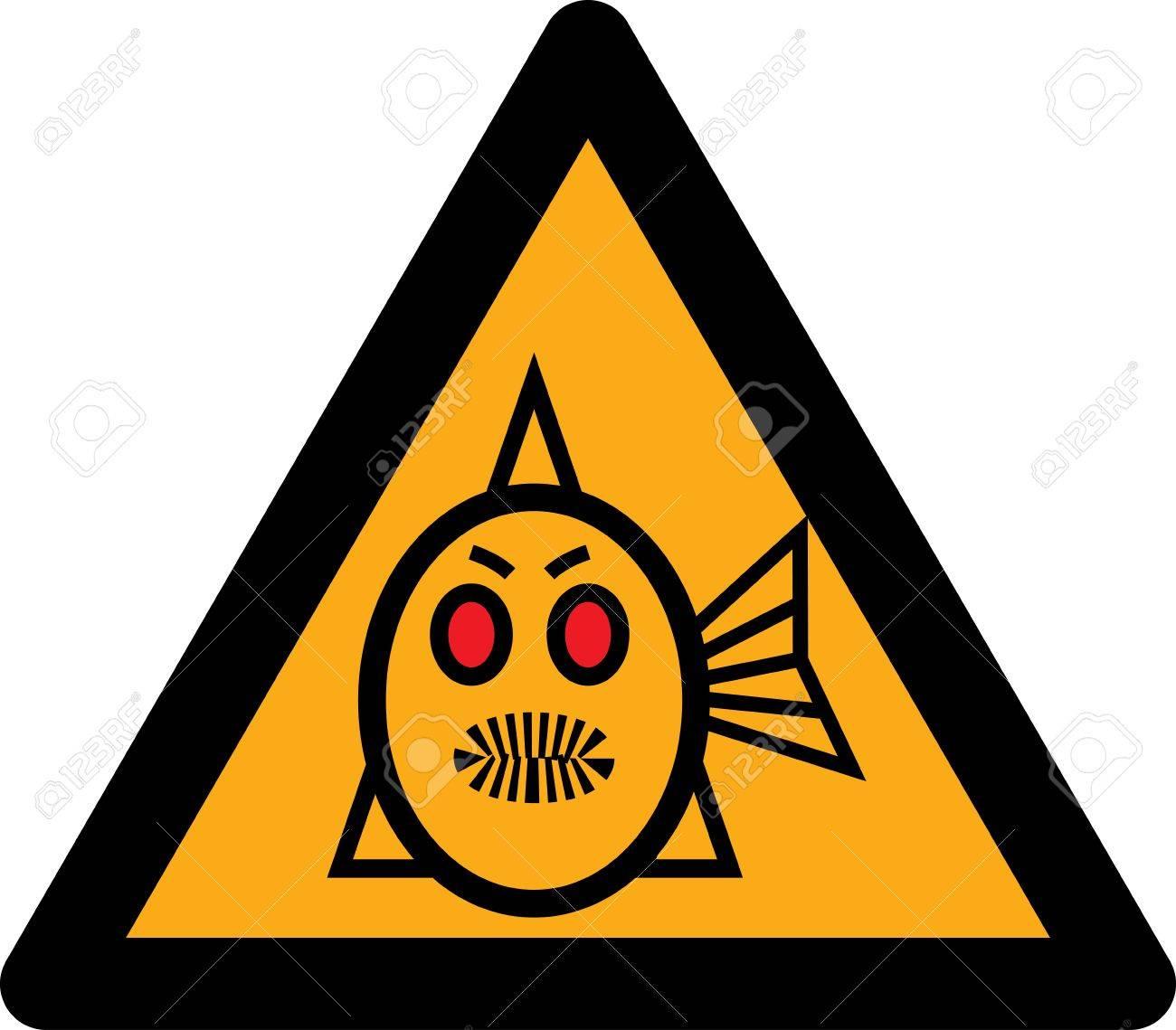 figure piranhas signifying danger Stock Vector - 14926636