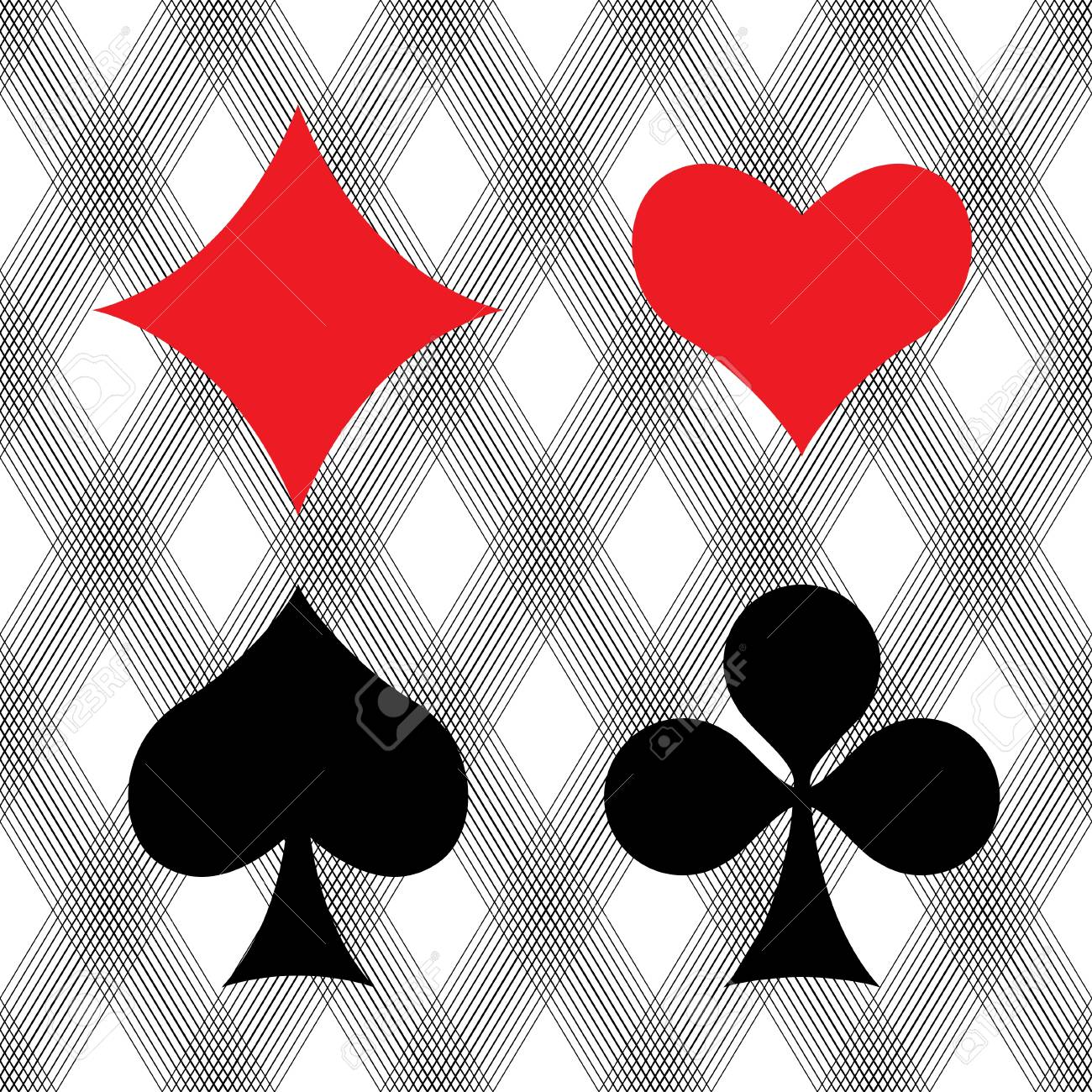 Playing card suits Stock Photo - 17098648