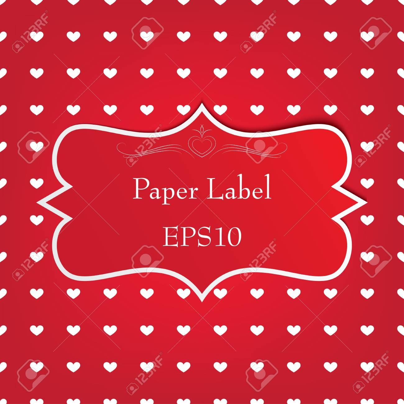 red paper retro label. vector eps10 Stock Vector - 17316189