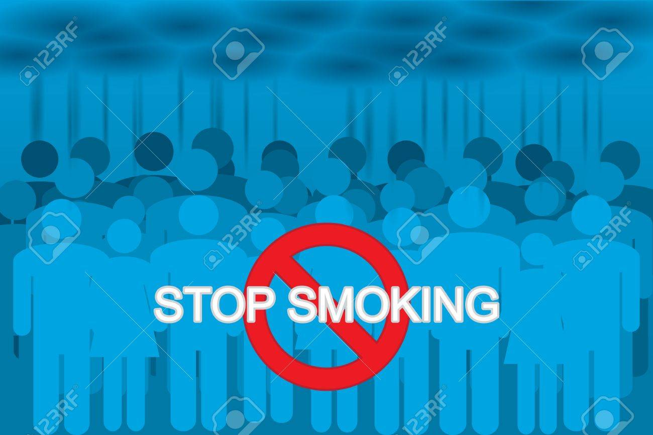 smokers in the cigarette smoke. stop smoking Stock Vector - 18345185