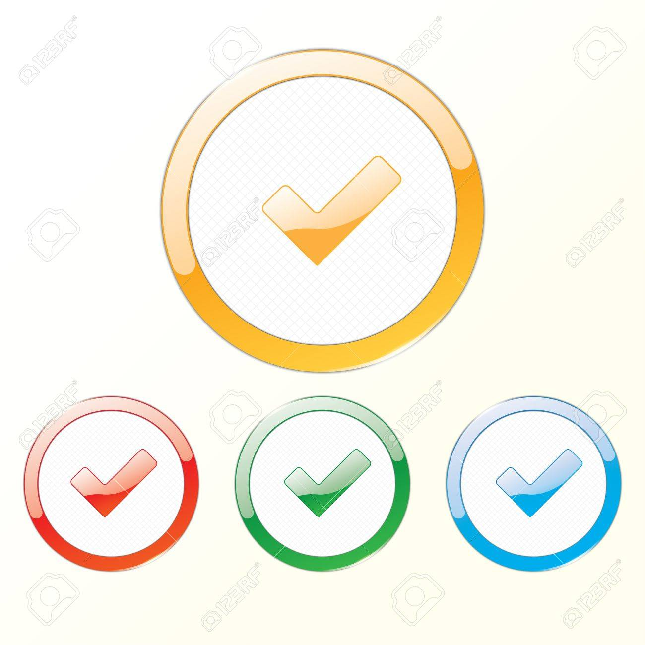 sign checkbox in the round frame. eps10 Stock Vector - 18593856