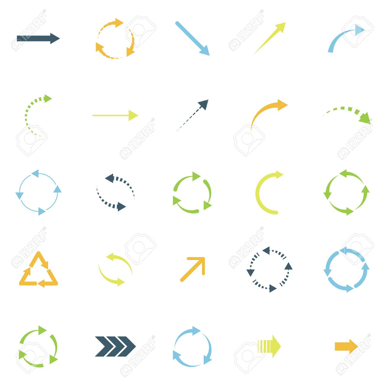 set of colored arrows Stock Vector - 18819911