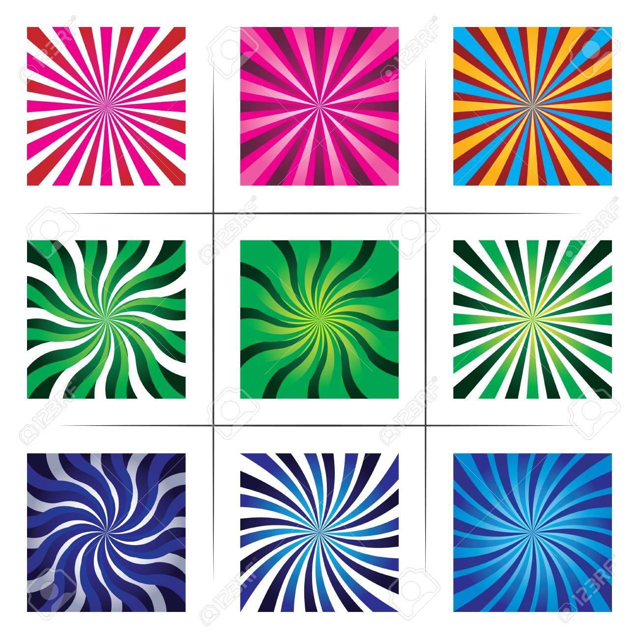 collection of abstract multicolor backgrounds. Stock Vector - 19658057